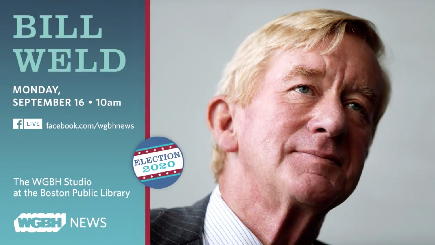 2020 Spotlight: Digital Town Hall With Bill Weld