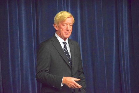 Republican presidential candidate Bill Weld visits campus