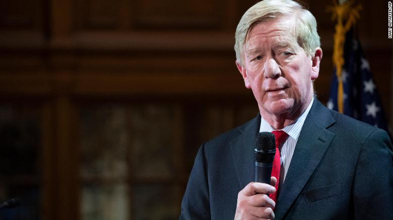 Bill Weld with mic